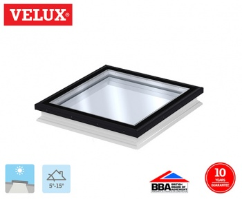 Velux Flat Glass Fixed Rooflight 100100 118cm x 118cm