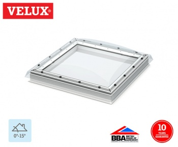 Velux Fixed Flat Roof Dome Clear 090090 108cm x 108cm