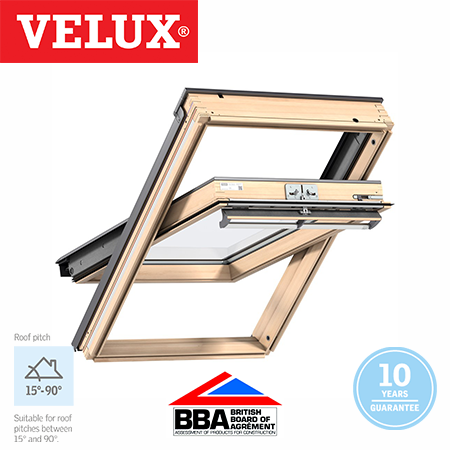Velux Centre Pivot - Pine Finish 78x98