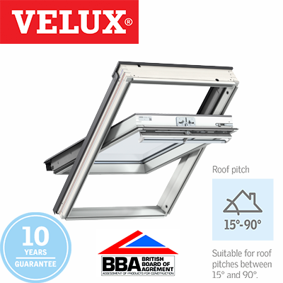 Velux Centre Pivot - White Painted Finish 55x98