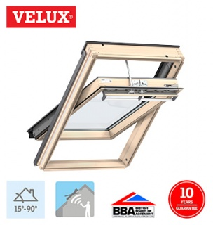 Velux Integra Electric Pine Finish MK04 78cm x 98cm