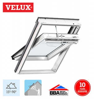 Velux Integra Electric White Polyurethane Finish CK06 55cm x 118cm