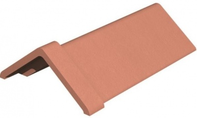 Capped Angle Red Ridge Tile