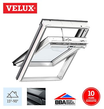 velux integra solar white polyurethane finish uk04 134cm x. Black Bedroom Furniture Sets. Home Design Ideas