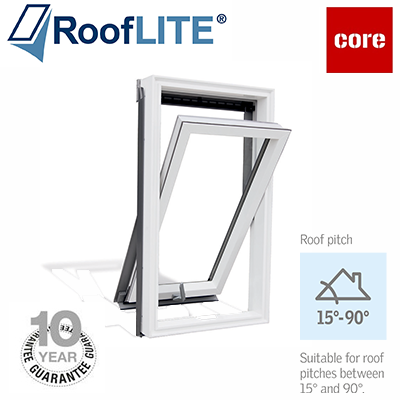 Rooflite Centre Pivot Window - 78x98 White