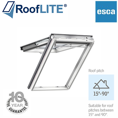 Rooflite Top Hung Fire Escape - 78x140 White