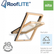 Rooflite Centre Pivot Window - 55x78 Pine
