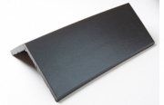 Plain Angle Black Ridge Tile