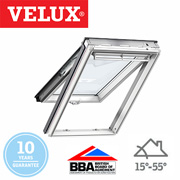 Velux Top Hung - White Polyurethane Finish 78x98