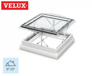 Velux Flat Roof Smoke Ventilation System 100100 Clear Dome 118cm x 118cm
