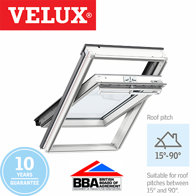 Velux Centre Pivot - White Polyurethane Finish 55x78